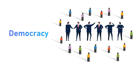 Democracy system of government by population through elected representatives select senate politician