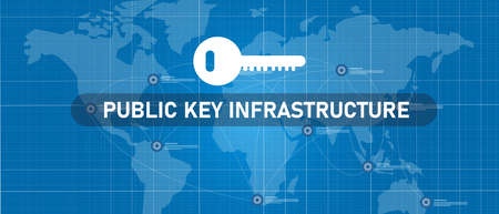 public key infrastructure or PKI in network encryption technology Çizim