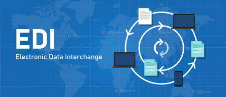 EDI electronic data interchange software system to process paper to paperless paperwork exchange between device