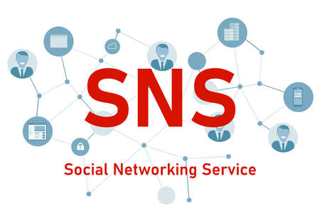 SNS social networking service people connection illustration Vettoriali