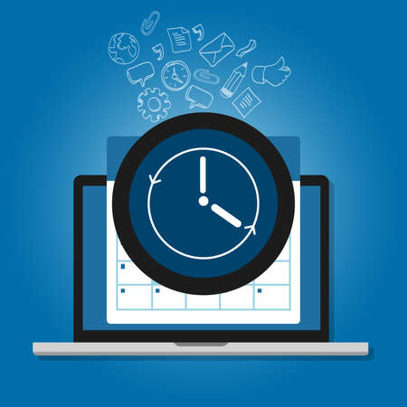 clock and calendar symbol availability support available clock symbol icon or deadline schedule