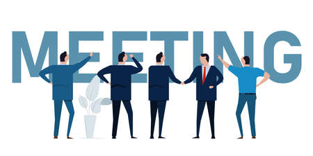 business meeting standing businessman brainstorm manager leader meet conference communication corporate discussion