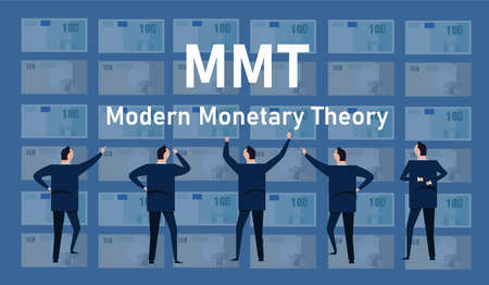 MMT modern monetary theory concept of printing money without risk of inflation economics dollar global business