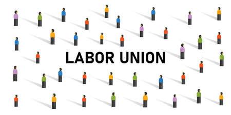 labor union crowd employment strike crowd movement organization strike Vettoriali