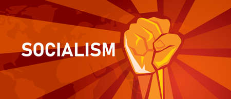 socialism socialist party symbol of left wing strong ideology politics movement spirit campaign