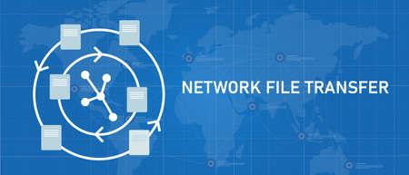 network file transfer NFT sharing exchanging document on internal company network