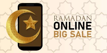 Ramadan online big sale smartphone mobile discount sale Islam crescent moon