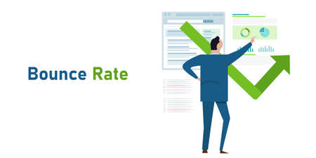 bounce rate number of visitor leave exit from website analytics website flow