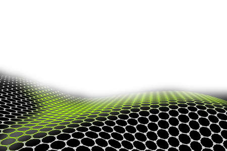 Graphene hexagon array pattern texture honeycomb