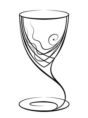 Graphic drawing of a glass for wine Stock Photo - 9318419