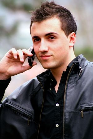 Young Businessman on the Phone 2 photo