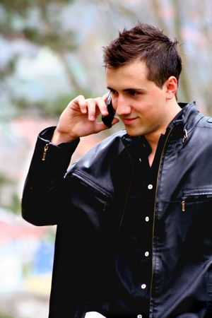 Young Businessman on the Phone photo