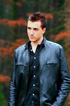 chaqueta de cuero: Joven Empresario 3 Foto de archivo