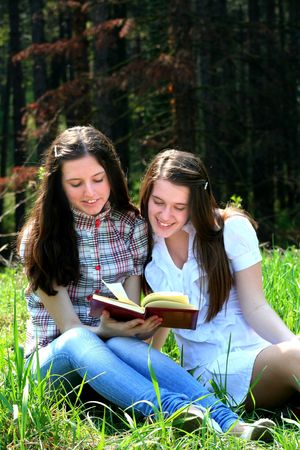 Girls And Book Stock Photo - 4669013
