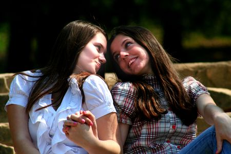 lesbians: Friends together 10 Stock Photo