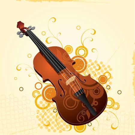 Musical violin Stock Vector - 2638934