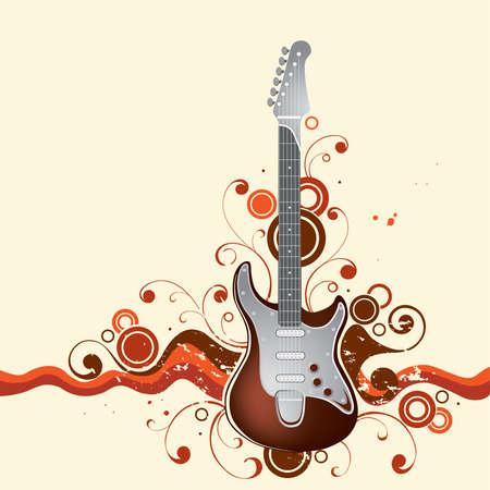 resonancia: Sobre un fondo de guitarras  Vectores