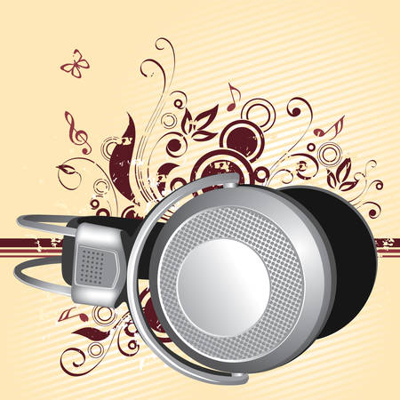 foreshortening: Headphones in a foreshortening