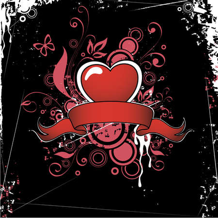 Heart in a tape Vector