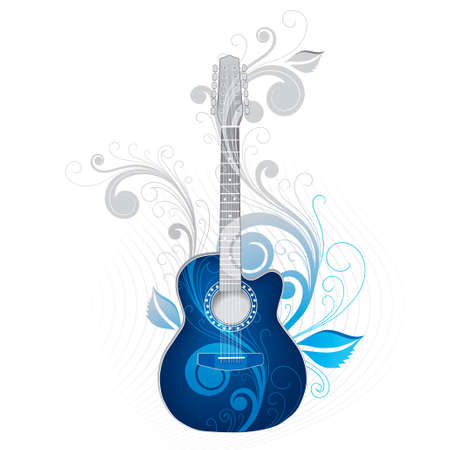 Dark blue guitar Stock Photo - 3004734