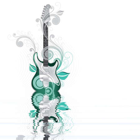 Abstraction with an electro-guitar Stock Photo - 3181052