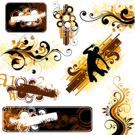 Illustrations on a white background Stock Photo