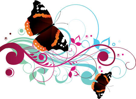 Composition with butterflies photo