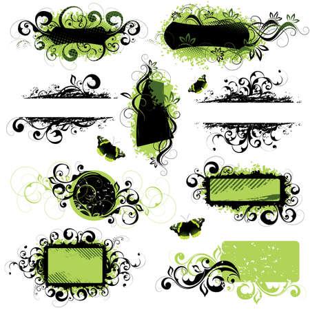 Decorative elements Illustration