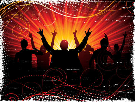 Musical background  Stock Vector - 4225326