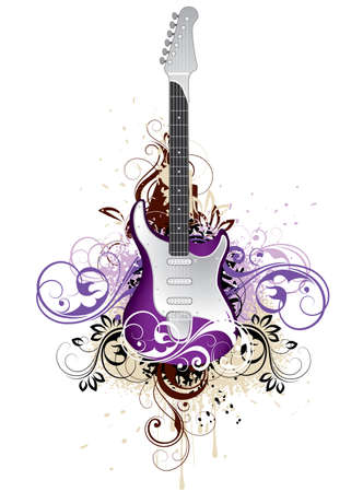 Decorative guitar Stock Vector - 4294373