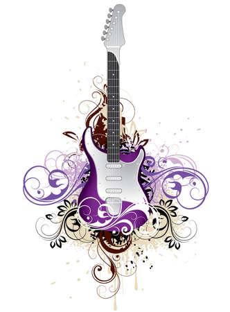 Decorative guitar Stock Vector - 4294373