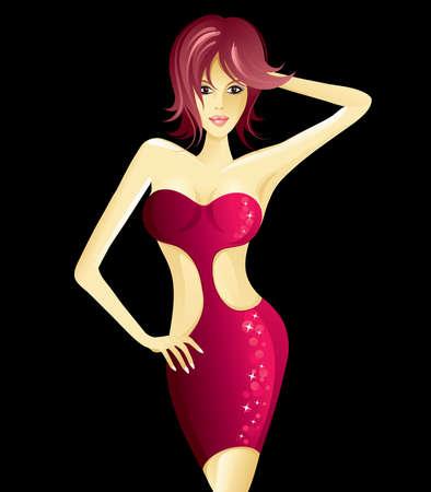 girl vector: The girl Illustration