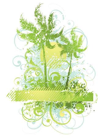 ray trace: Composici�n de vectores con palmeras Vectores