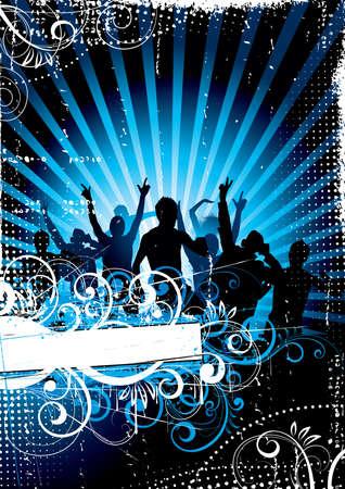 rapper: La gente bailando en los rayos de luz