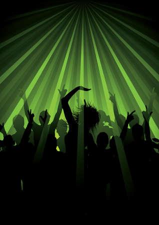Bailes en los rayos de luz