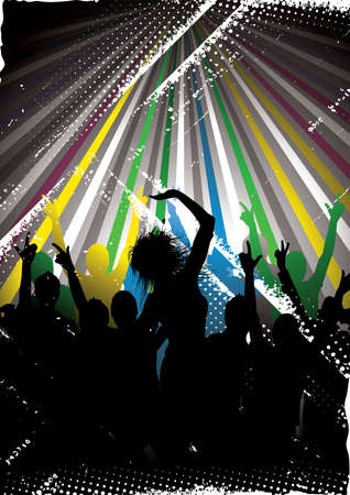 Colour musical background Vector
