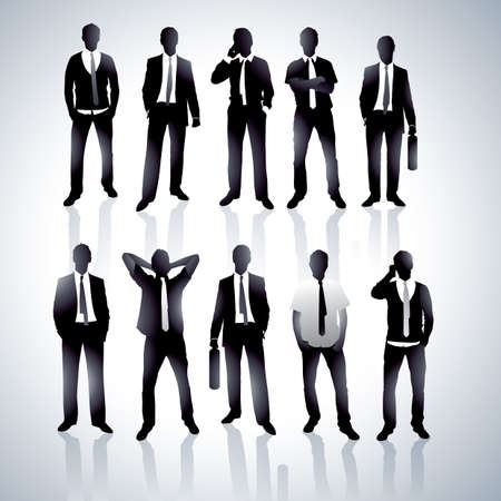 card suits: Businessmen in a vector