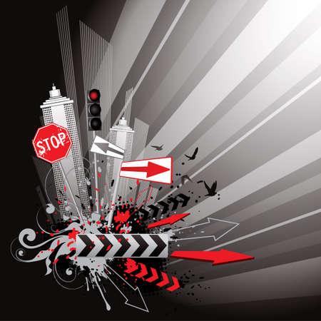 メトロポリス: 灰色の街  イラスト・ベクター素材