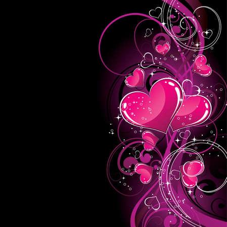 interweaving: Viola cuori