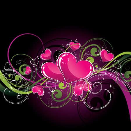 interweaving: Contesto con il cuore Vettoriali