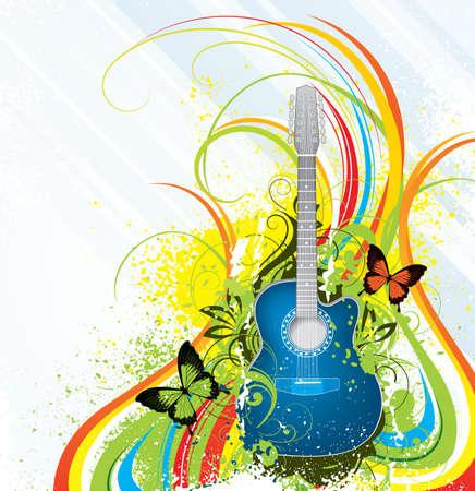 Colour music Vector