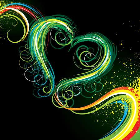 Colour heart Stock Vector - 5155654