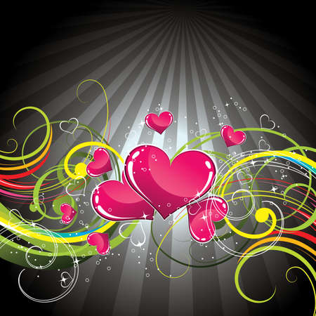 artistic: Background with hearts