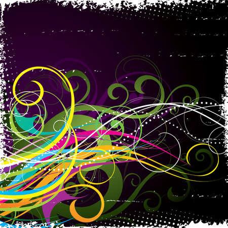 Bright vegetative abstraction Stock Vector - 5357977