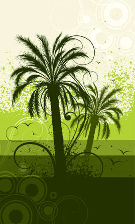 Two palm trees Stock Vector - 5691415