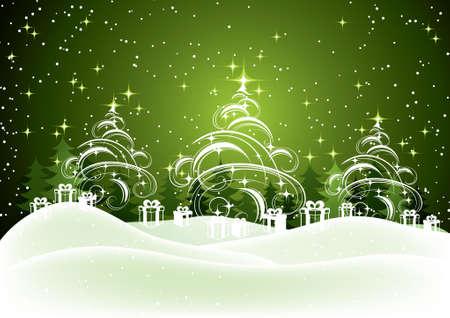 fur tree: New Years background Illustration
