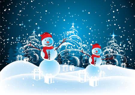 Christmas snowmen Stock Vector - 5727591