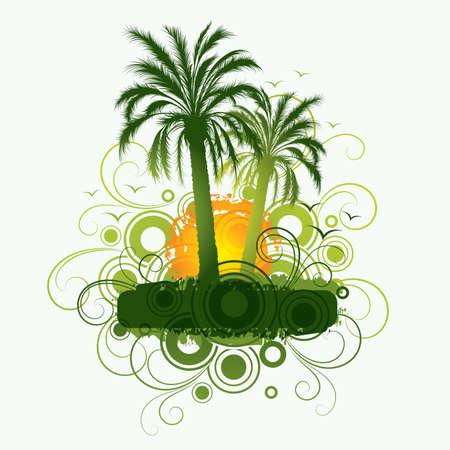 ray trace: Palm trees