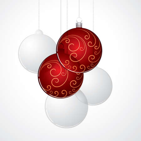 New Years red balls Vector