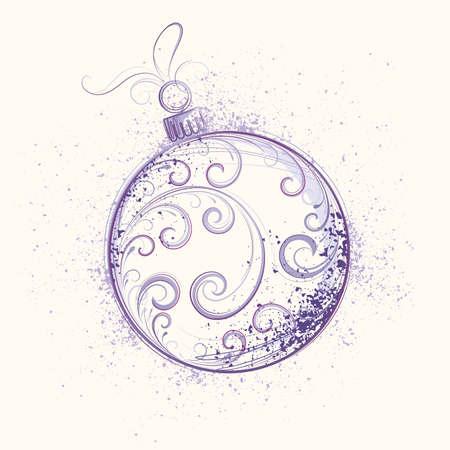 Christmas sphere Vector